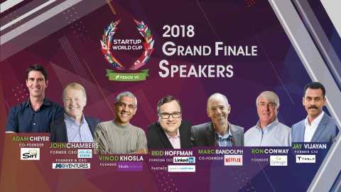 Startup World Cup 2018 Grand Finale Speakers (Graphic: Business Wire)