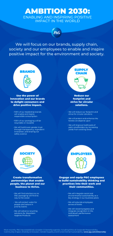 P&G Ambition 2030 Infografik (Grafik: Business Wire)