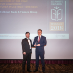 E-Global Trade & Finance Group Inc. Better-Known as Forex4you Wins the Le Fonti Awards in Hong Kong in the Forex Investment Business