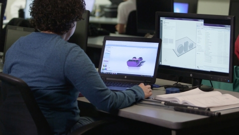Stratasys Additive Manufacturing-certified Jazmine Darden from Dunwoody College of Technology review ...