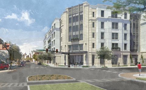 Liberty Place Charleston by Hilton Club - Exterior Rendering | Proposed and subject to change. © 2018 Hilton Grand Vacations.