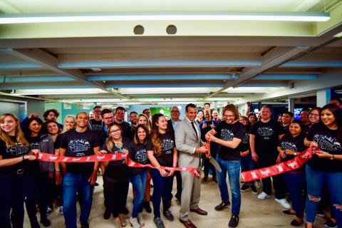 Wrike Headquarters Ribbon Cutting with San Jose Mayor Sam Liccardo. Copyright Steven Cotton Photography.