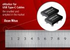 Silicon Mitus, an advanced specialist in PMIC technology, introduced the SM5516 eMarker IC for USB Type-C cable, which attains the smallest device size at a mere 1.1 mm x 1.5 mm package. The SM5516 features a wide VDD operation range of 2.7 V to 5.5 V, and the availability of embedded Multi-Time Programmable (MTP) memory brings flexibility to program Vendor Information Data (VID). (Graphic: Business Wire)
