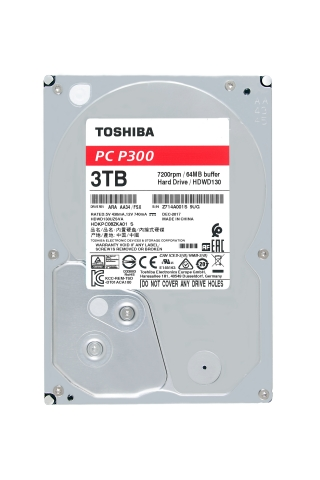 Toshiba: P300 Desktop PC Hard Drive series with up to 3TB capacity for home and business users. (Photo: Business Wire)