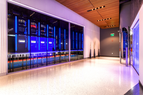 "This ""meet-me room"" at RagingWire's Sacramento CA3 Data Center is one of the connection points for Cloud Connect and Megaport. The new service from Megaport is available at all RagingWire data centers in the U.S. including Ashburn, Virginia; Dallas, Texas; as well as Sacramento, California. (Photo: Business Wire)"