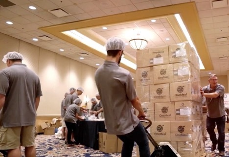 MannaFest 2018 attendees will prepare 271,000 meals for malnourished children in partnership with Mission 5 Million and Kids Around the World's OneMeal program. (Photo: Business Wire)