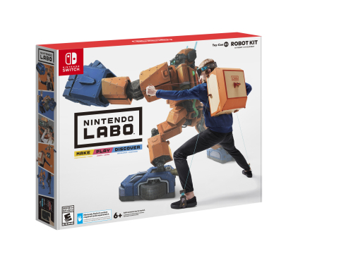 With Nintendo Labo Robot Kit, you can build a wearable robot suit, including a backpack and visor, which allows you to assume control of a huge on-screen robot. Smash buildings and UFOs in Robot Mode, make sound effects using your Toy-Con Robot in Robo Studio or customize your in-game robot in the Hangar. (Photo: Business Wire)