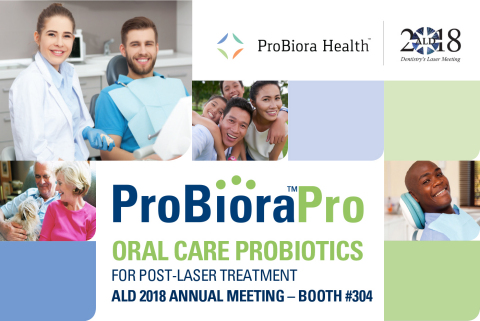 ProBiora Health to present ProBioraPro oral care probiotics at the ALD 2018 Annual Meeting.(Photo: Business Wire)