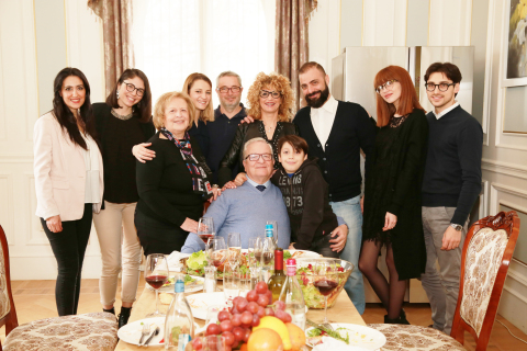 Three generations of a family in Saint-Cyr, Paris use Haier (Photo: Business Wire)