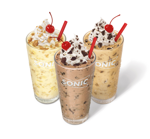 SONIC's new Cookie Jar Shakes are blending the classic all-American combination of creamy ice cream  ...