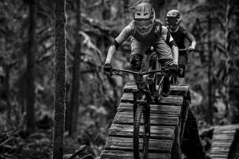 Liv enduro athlete Leonie Picton, known for being one of the top riders in the British Columbia Enduro scene, has big dreams and aims to conquer them aboard her Liv Hail Advanced--meticulously handcrafted around 160mm suspension to balance women on steep, technical terrain, up and down. Photo courtesy of Liv.
