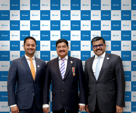 Finablr Leadership Team (L-R): Binay Shetty (Executive Director, Finablr), Dr. B.R. Shetty (Founder and Chairman, Finablr) and Promoth Manghat (Executive Director, Finablr) (Photo: AETOSWire)