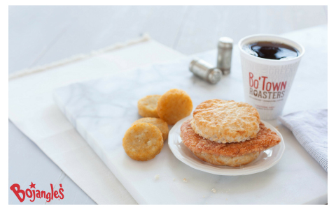 The One, The Only Bojangles' Cajun Filet Biscuit is now available at a 2-for-$5 offer at participating restaurant locations (Photo: Bojangles')