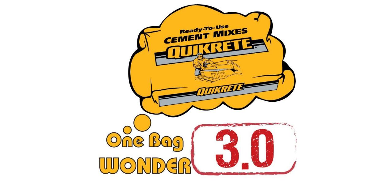 Quikrete One Bag Wonder Contest Call For Diy Project Entries