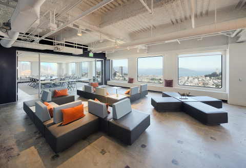 Columbia Property Trust has leased or renewed two-thirds of the space at 650 California Street in San Francisco, putting it at 96 percent leased today, with an average remaining lease term of 6.6 years. Photo by @vantagepointart