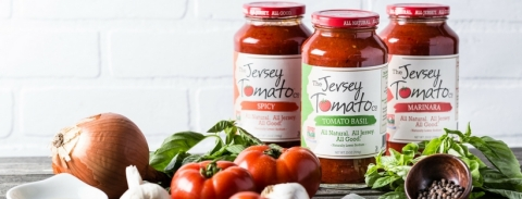 Three tomato sauces from The Jersey Tomato Co., now available at all Harris Teeter stores. (Photo: Business Wire)