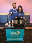 Actors Patrick J. Adams and Troian Bellisario supported the Make March Matter campaign by volunteering at Children's Hospital Los Angeles on March 15, 2018. (Photo: Business Wire)