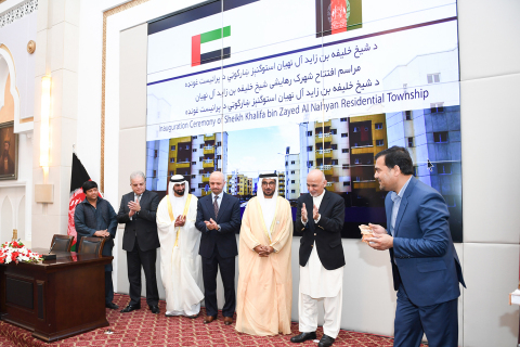 His Excellency Mohammed Saif Al Suwaidi, Director General of ADFD, during the official inauguration ceremony of the 3,330-residential unit Sheikh Khalifa bin Zayed City in Afghanistan (Photo: AETOSWire)