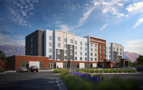 Rendering of the new Hilton Garden Inn Lehi in Utah, which opened earlier this month along with three other Hilton Garden Inn properties around the globe. (Photo: Business Wire)