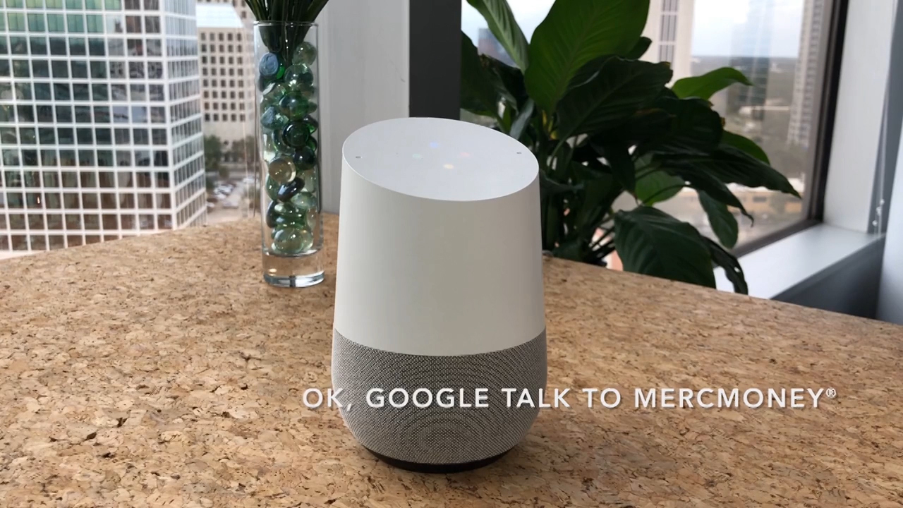 OK Google, talk to MercMoney (Video: Business Wire)