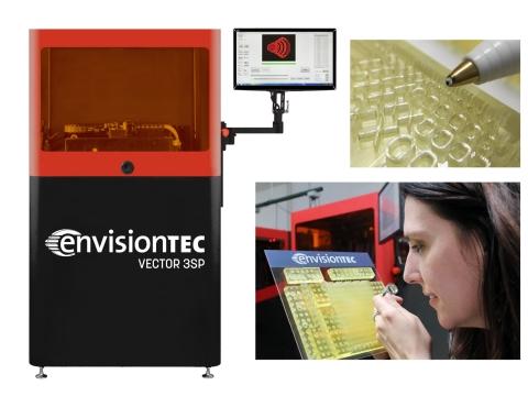 EnvisionTECW将在北美3D打印顶级盛会RAPID + TCT展会上演示3SP系列3D打印机的潜力。新硬件升级支持大型3D打印机提供25微米(大约相当于人类头发截面的一半)的XY平面分辨率。(照片:美国商业资讯)