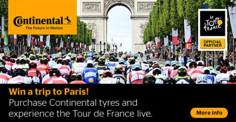 Live bij de Tour de France zijn met Autobandenmarkt.nl en Continental (Photo: Business Wire)