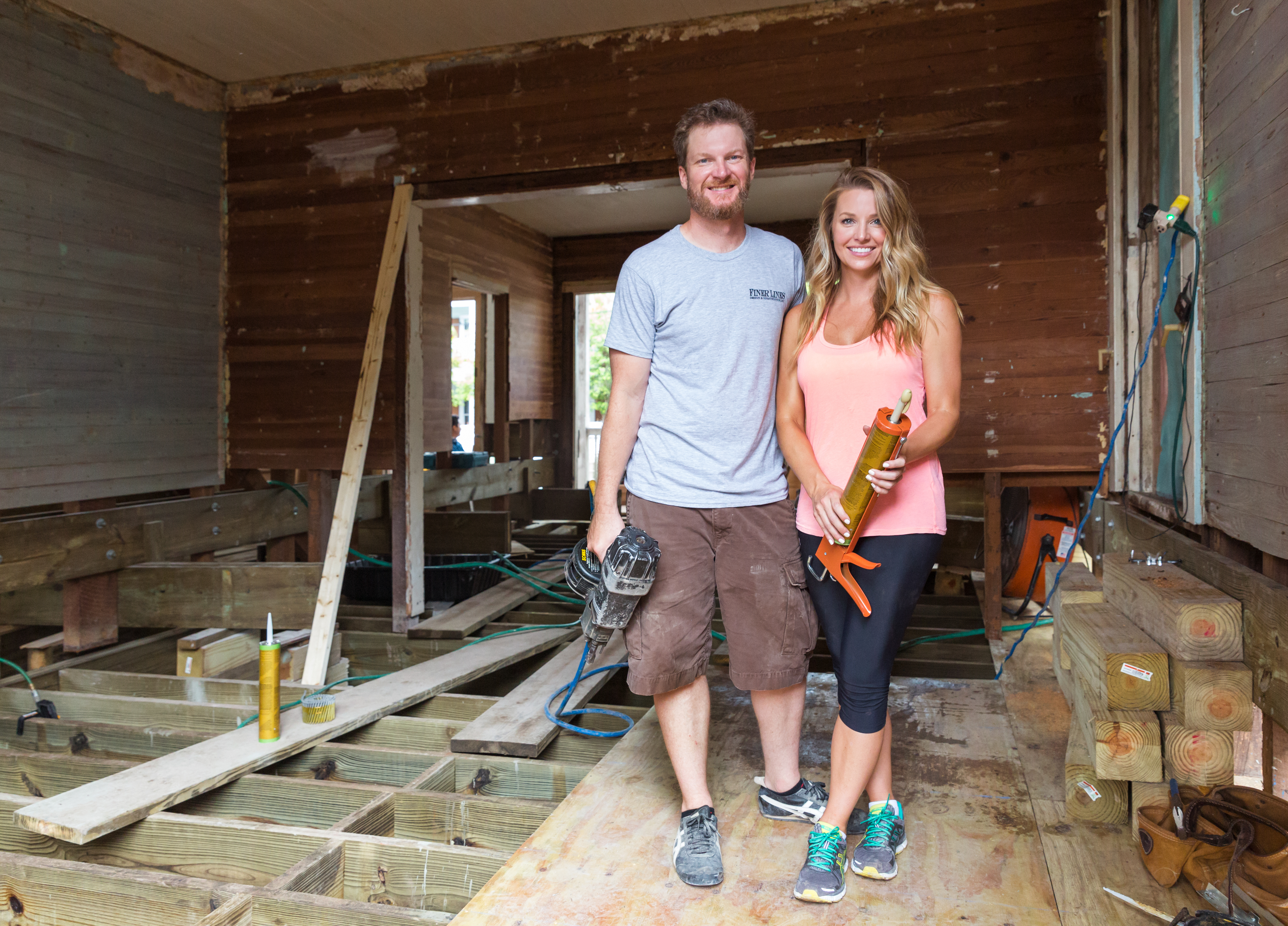 nascar champion dale earnhardt jr and wife amy race to home reno