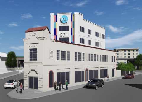 Rendering of the new Tru by Hilton San Antonio Downtown, which maintains the original framework of a 1930's-era historic building (Photo: Business Wire)