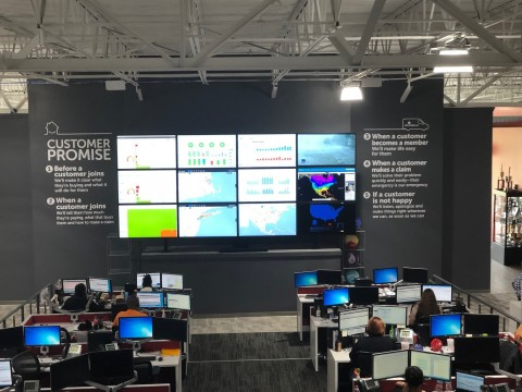 The interior of the new 45,000-square foot HomeServe USA Customer Center of Excellence in Chattanooga, Tennessee. The center opened April 25, 2018, and will allow HomeServe to, over time, hire 175 additional employees, bringing the total number to 500. (Photo: Business Wire)