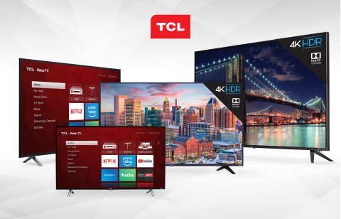 TCL®, one of the world's best-selling television brands and the fastest-growing in America, today announced pricing and availability of its new 4K HDR TCL Roku TV™ models. (Photo: Business Wire)