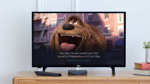 Comcast partners with Tile to let Xfinity customers use their Xfinity X1 Voice Remote to locate Tile devices anywhere and see the results of their search on the television. (Photo: Business Wire)