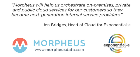 Exponential-e partners with Morpheus for new managed cloud services offering (Graphic: Business Wire)