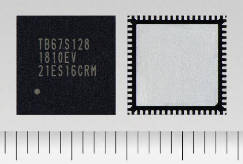 東芝:最大定格50Vで定格電流5A の128 stepマイクロステップに対応したバイポーラ・ステッピングモータドライバ「TB67S128FTG」(写真:ビジネスワイヤ)