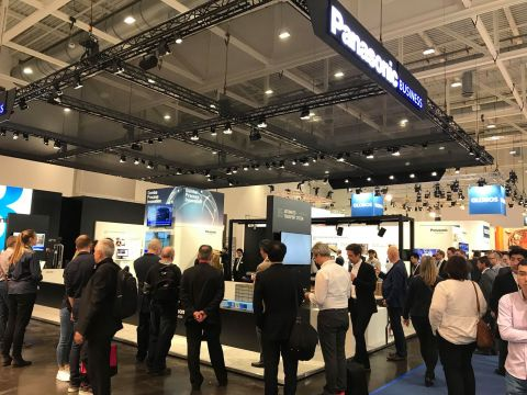 The Panasonic booth at CeMAT 2018 (Photo: Business Wire)