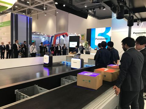 Panasonic's Visual Sort Assist system demonstrated at CeMAT 2018 (Photo: Business Wire)