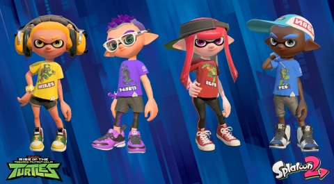 Splatfests are recurring online competitions in Splatoon 2 that ask players to pick a side – in this case, their favorite Teenage Mutant Ninja Turtle. Once players choose a team, they'll receive an in-game T-shirt adorned with an image of their preferred Turtle for their Inkling character to wear as they compete in online multiplayer Turf Wars battles to see which side comes out on top. (Photo: Business Wire)