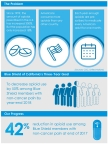 Infographic: Blue Shield of California on Track to Reduce Opioid Use Among Members by 50 Percent by End of 2018 (Graphic: Business Wire)
