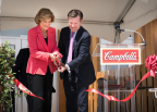Campbell's President and CEO Denise Morrison and Bright Horizons CEO Stephen Kramer cut the ribbon to officially open the new Campbell's Family Center. (Photo: Business Wire)
