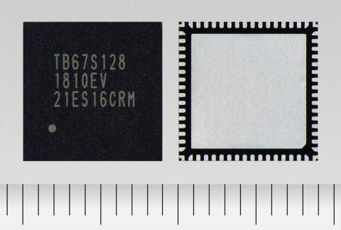 "Toshiba: a bipolar stepping motor driver ""TB67S128FTG"" with a 50V/5A rating and support for 128 micro steps. (Photo: Business Wire)"