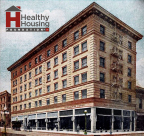 L.A.'s Historic King Edward Hotel has been purchased by the Healthy Housing Foundation of AHF for use as transitional and longer-term housing for the homeless and low-income. (Graphic: Business Wire)