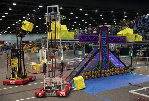 Over 40,000 people, including 15,000 students ages 6-18, traveled to Detroit, putting their innovation skills to the test at the annual FIRST Championship Presented by Qualcomm® Incorporated, held at the Cobo Center and Ford Field. (Photo: Business Wire)
