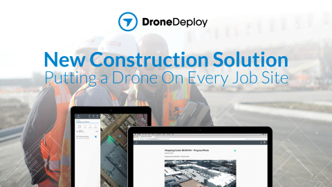Progress Photos is the first tool allowing customers to intuitively plan photo flights, automatically capture corner images, immediately create a visual timeline of a job site, and generate a replicable weekly progress report. (Graphic: Business Wire)