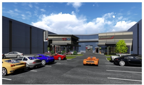 Rendering of Flexjet's new Dallas Love Field private terminal, maintenance hangar and office space. (Graphic: Business Wire)