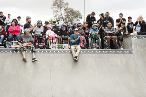 More Than Four Dozen Skaters and Sponsors Come Together for First Adaptive Skate & WCMX Contest, Presented by Oakley (Photo: Business Wire)