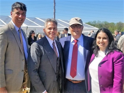 Attendees at the Merriweather District groundbreaking ceremony in Columbia, MD. L to R: Senator Guy Guzzone, Maryland District 13; David Weinreb, CEO Howard Hughes Corporation; Oded Weiss, Director STEER; Anuja Sonalker, Founder & CEO STEER. (Photo: Business Wire)