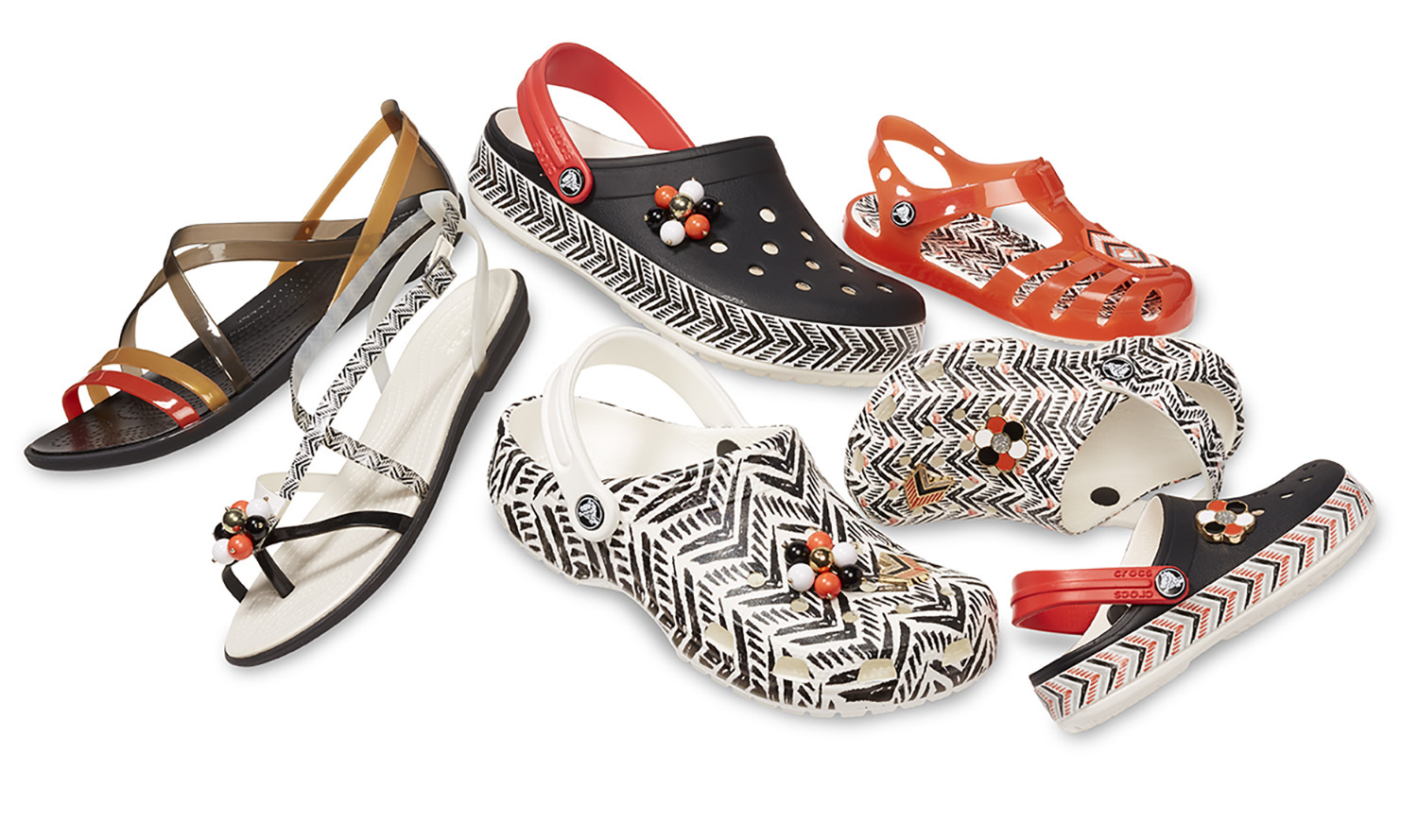 7658a469233d76 Crocs Unveils Its Drew Barrymore ♥ Crocs Chevron Collection ...