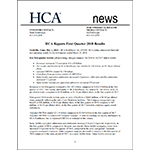HCA Reports 1Q 2018 Results