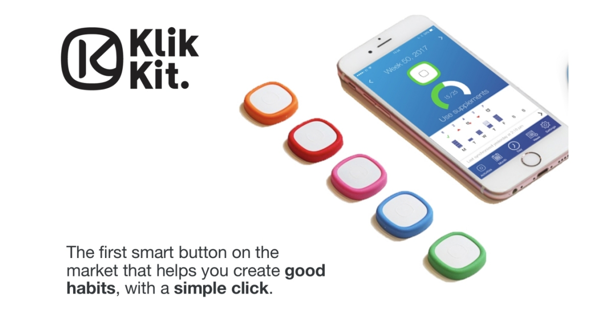 Groundbreaking Smart Button & Mobile Health App Klikkit Solves Medication Adherence Challenge