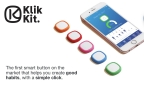 The Klikkit smart button trains your brain to remember positive habits. (Graphic: Business Wire)