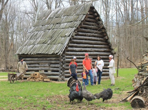 Visitors at the Claude Moore Colonial Farm (Photo: Business Wire)